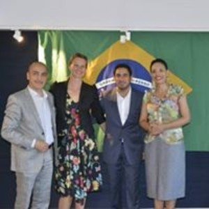The event organized by Brazilcham on the occasion of the opening of the 2014 World Cup and match between Brazil and Croatia. The evening was opened by Ms. Leda Camargo, the Brazilian Ambassador in Sweden at that moment, and Ms. Bernardica Mak?ijan, Croatia?s Chargée d'Affaires, who welcomed guests from the business sector, ambassadors from countries participating in the tournament and politicians. Photos by Miha Furdui.