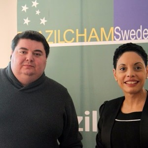 From the left:  1. Timur Klardzheishvili - Second secretary, Embassy of Russia. 2. Elisa Solhlman - Executive Director (Brazilcham)
