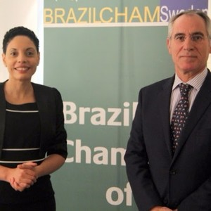From the left:  1. Elisa Solhlman - Executive Director (Brazilcham)  2 H.E José Pereira Gomes - Ambassador of Portugal