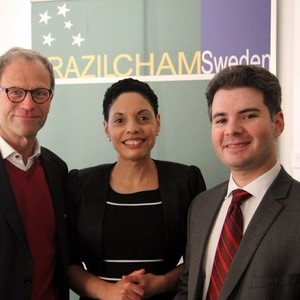 From the left: 1. Pelle Thörnberg - Pelle Thörnberg Media AB 2. Elisa Solhlman - Executive Director (Brazilcham)  3 Benedito - Embassy of Brazil